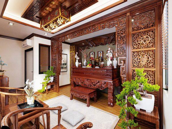 Mẫu phòng thờ cnc Lan Viiệt