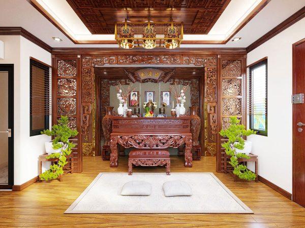 Mẫu phòng thờ cnc Lan Việt 012