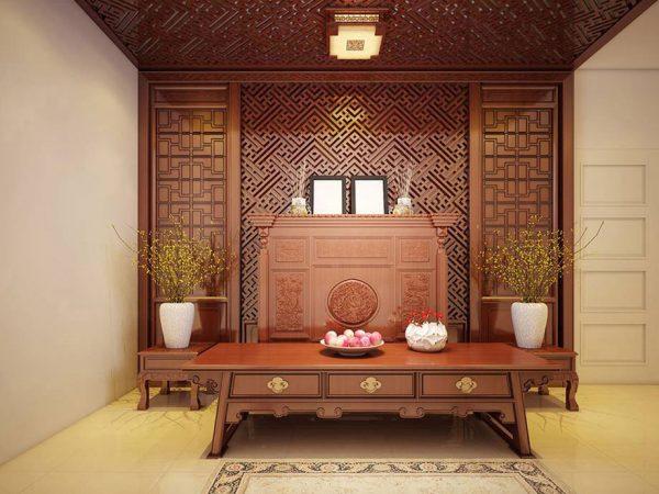Mẫu phòng thờ cnc Lan Việt 013