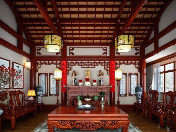 Mẫu phòng thờ cnc Lan Việt 014