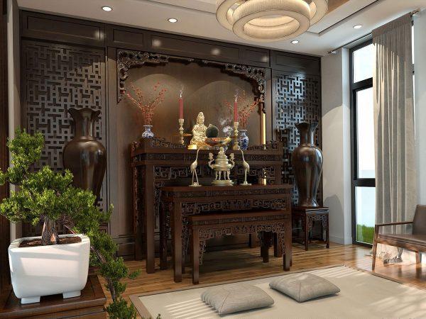 Mẫu phòng thờ cnc Lan Việt 018