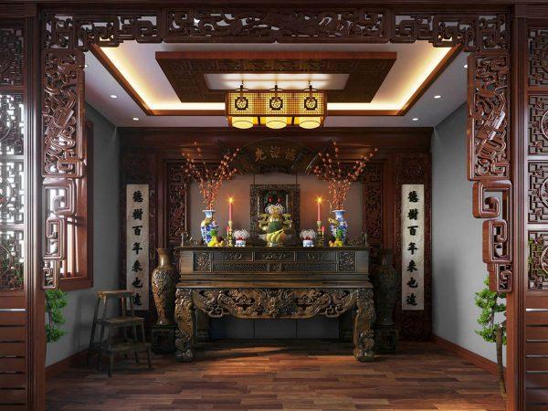 Mẫu phòng thờ cnc Lan Việt 019