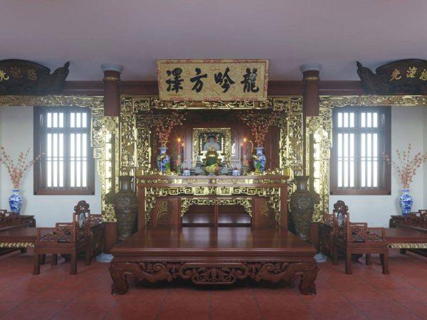Mẫu phòng thờ cnc Lan Việt 021