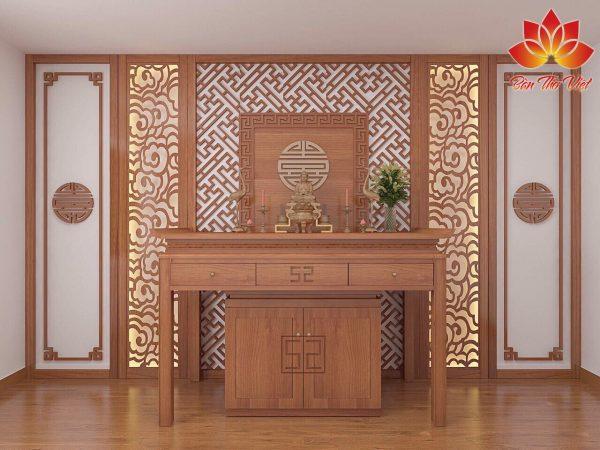 Bố trí phòng khách kết hợp phòng thờ sang trọng hút tài lộc
