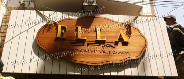 Bảng hiệu gỗ đẹp tham khảo