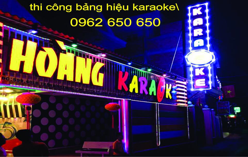 Bảng hiệu karaoke đẹp