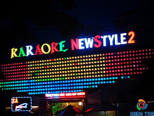 bảng hiệu led karaoke đẹp mắt