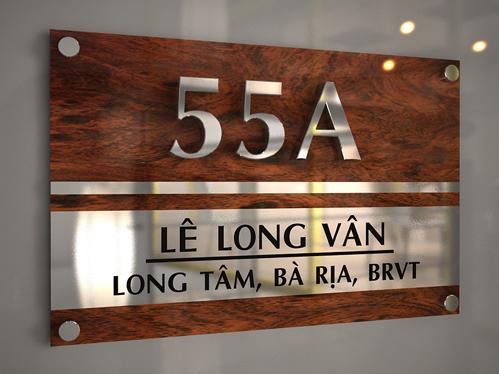 Làm bảng số nhà tại Hồ Chí Minh