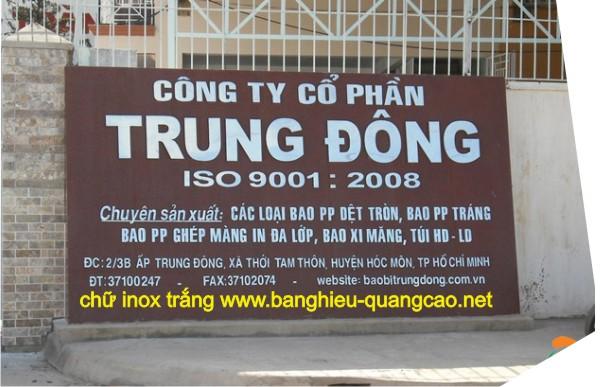 Bảng Báo Giá Bảng Hiệu Thi công tại Hồ Chí Minh